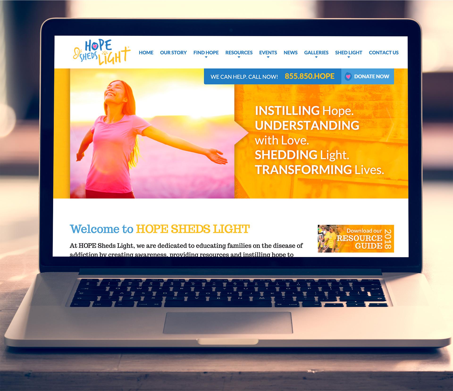 HOPE Sheds Light website