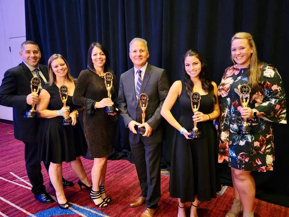 The Design 446 team at the 34th Annual SAM Awards. Pictured from left: Nick Nagle, Jayne Galgon, Ann Marie Baker, Tom Villane, Brianna Veltre and Allison Walter.